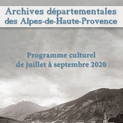 Programme culturel 3eme trimestre 2020