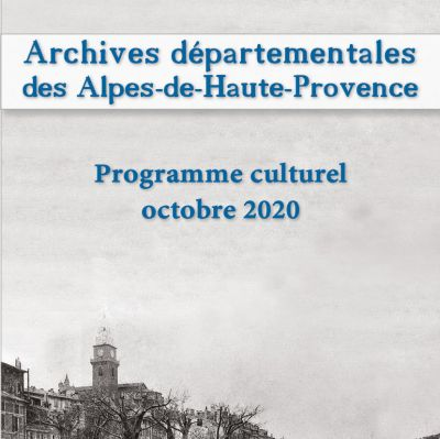 Programme culturel octobre 2020