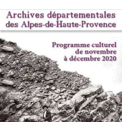 Programme culturel novembre et décembre 2020