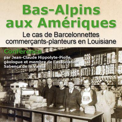 Conférence Bas-Alpin aux Amériques