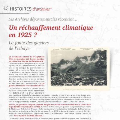 Un réchauffement climatique en 1925 ?