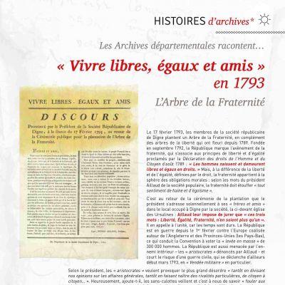 Vivre libres, égaux et amis en 1793