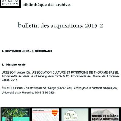 Bulletin d�cembre 2015