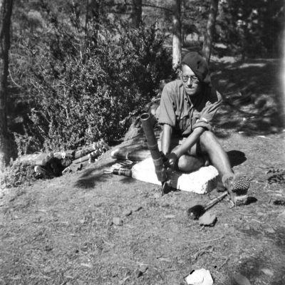 Paul Delobeau, « Au nord de Digne. Mortier anglais de 2 pouces (août 44) »