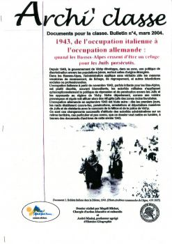 1943 de l'occupation italienne à l'occupation allemande