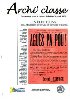 Archi'classes - Les élections de la République censitaire au suffrage universel